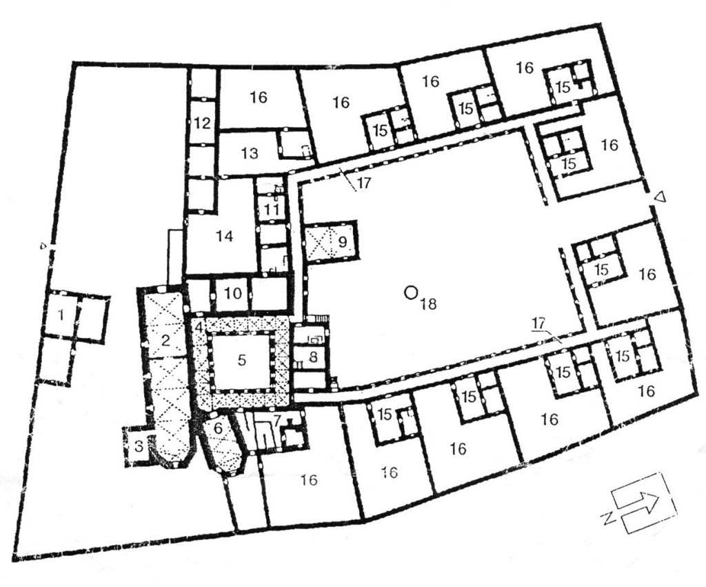 Ground plan of Carthusian monastery