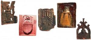 Niektoré z nájdených kachlíc